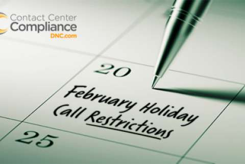 February 2017 Holiday Call Restrictions
