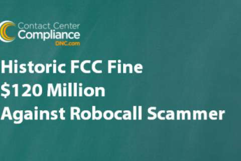 $120 Million Robocall Fine on green background