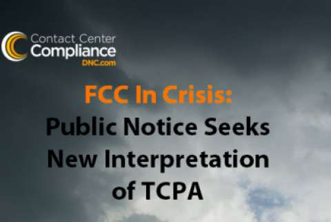 FCC TCPA Crisis over cloudy sky