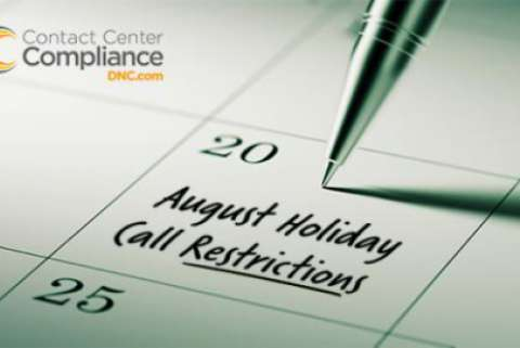 Do Not Call restrictions for August 2018