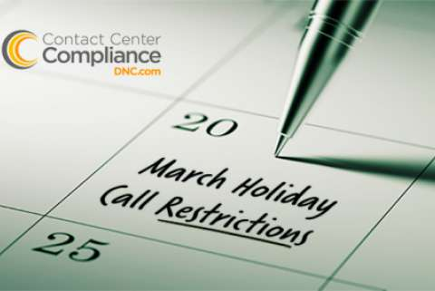 2019 March Restricted Call Dates