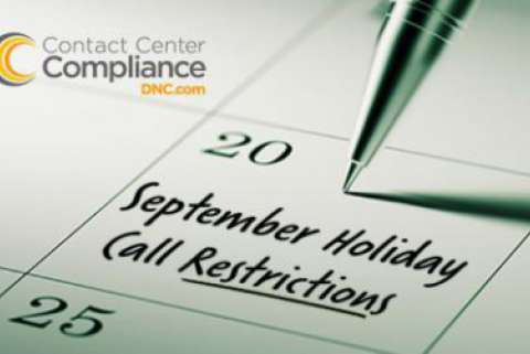 2019 September Restricted Do Not Call Dates