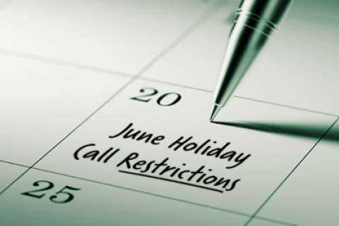 2020 June Restricted Do Not Call Dates