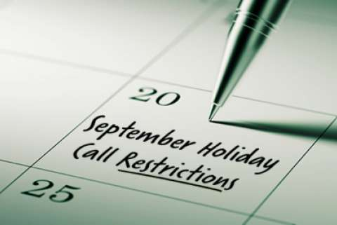 2020 September Restricted Do Not Call Dates