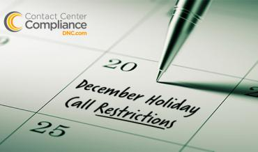 2016 Holiday Call Restrictions