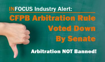 CFPB Arbitration Rule Voted Down By Senate