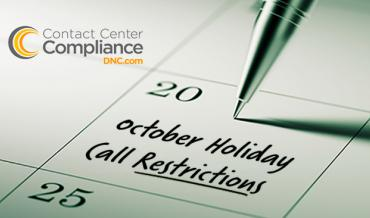 October Holiday Call Restrictions
