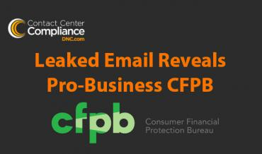 Leaked Email Reveals Pro-Business CFPB
