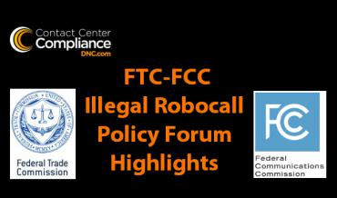 FTC and FCC Illegal Robocall Policy Forum Highlights