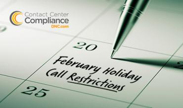 2019 February Restricted Call Dates