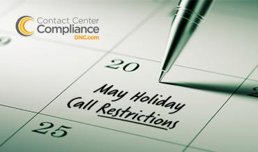 2019 May Restricted Call Dates