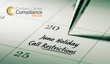 2019 June Restricted Do Not Call Dates