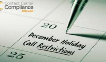2019 December Restricted Do Not Call Dates