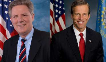 Official portraits of Congressman Frank Pallone and Senator John Thune