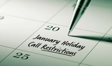 2020 January Restricted Do Not Call Dates