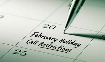 2020 February Restricted Do Not Call Dates
