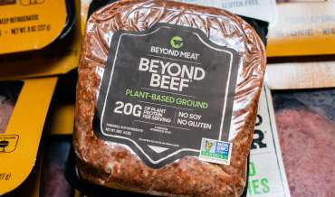 A package of Beyond Beef brand plant-based meat substitute