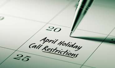 2020 April Restricted Do Not Call Dates