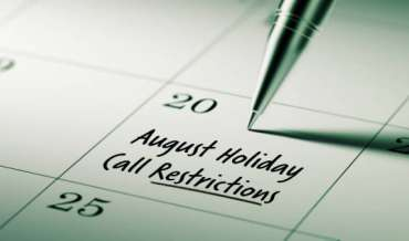 2020 August Restricted Do Not Call Dates