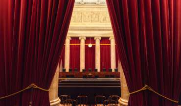 The interior of the United States Supreme Court chambers