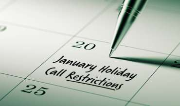 2021 January Restricted Do Not Call Dates