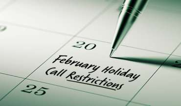 2021 February Restricted Do Not Call Dates