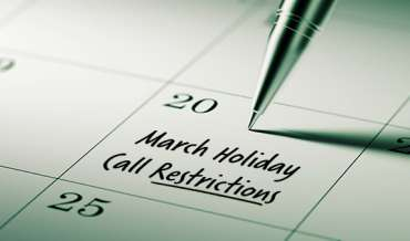 2021 March Restricted Do Not Call Dates