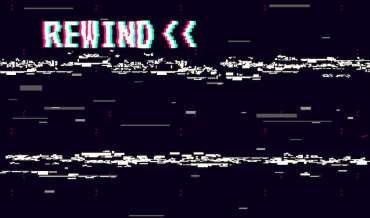 Rewind glitch background