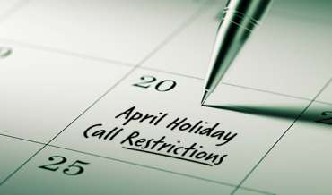 2021 April Restricted Do Not Call Dates