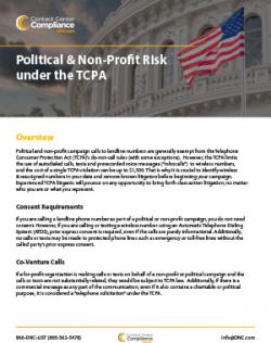 Political and Non-Profit Risk under the TCPA