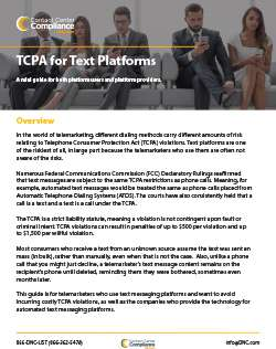 TCPA for Text Platforms Mini Guide