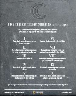 The Ten Commandments (of the TCPA)