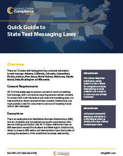 Quick Guide to State Text Messaging Laws