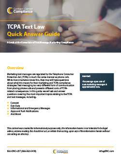 TCPA Text Law Quick Answer Guide