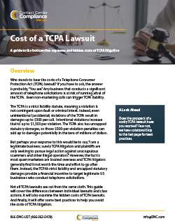 Cost of a TCPA Lawsuit