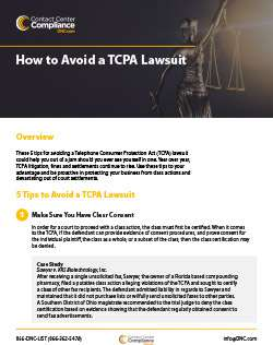 How to Avoid a TCPA Lawsuit