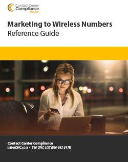 Marketing to Wireless Numbers Reference Guide