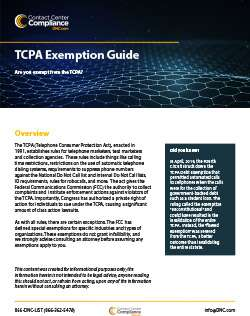 TCPA Exemption Quick Guide