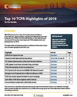 Top 10 TCPA Highlights of 2019