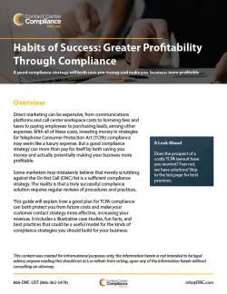 Habits of Success: Greater Profitability Through Compliance
