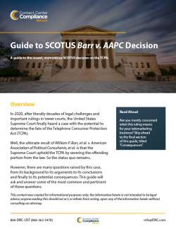 Quick Guide to SCOTUS Barr v AAPC Decision