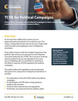 TCPA for Political Campaigns