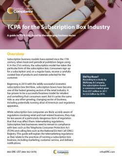 TCPA for the Subscription Box Industry