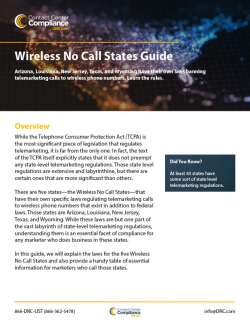 Wireless No Call States Guide