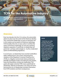 TCPA for Automotive