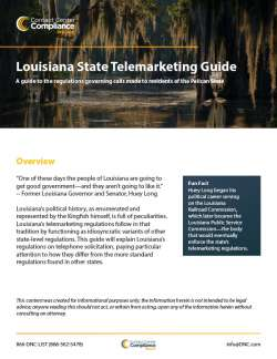 Louisiana State Telemarketing Guide